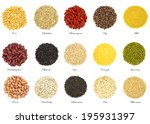 collection of 15 different... | Shutterstock . vector #195931397