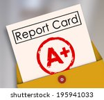 a plus student report card... | Shutterstock . vector #195941033