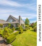 luxury house in vancouver ... | Shutterstock . vector #195950543