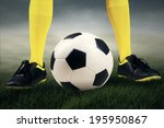 football or soccer ball at the... | Shutterstock . vector #195950867