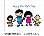 happy family 's day  father ... | Shutterstock .eps vector #195964577