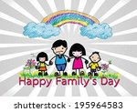 happy family 's day  father ... | Shutterstock .eps vector #195964583