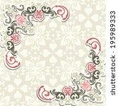 vintage background  greeting... | Shutterstock .eps vector #195989333