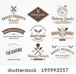 vector bakery badges for any use | Shutterstock .eps vector #195993557