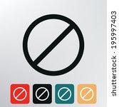 prohibition sign icon.