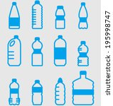 Vector Plastic Bottles Set  ...