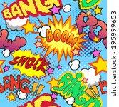 comic book explosion pattern ... | Shutterstock .eps vector #195999653