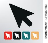 pointer icon. | Shutterstock .eps vector #196000703