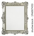 empty  frame for picture with... | Shutterstock . vector #196007453