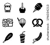 appetizer,apple,banana,black,box,candied,candy,caramel,carnival,cheese,chips,chocolate,cone,corn,cotton