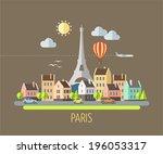 flat design illustration  ... | Shutterstock .eps vector #196053317