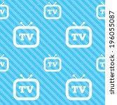retro tv sign icon. television... | Shutterstock .eps vector #196055087