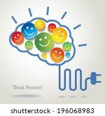 positive thinking. success.... | Shutterstock .eps vector #196068983