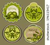organic natural food extra... | Shutterstock .eps vector #196115417