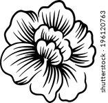 line pattern beautiful flowers. | Shutterstock .eps vector #196120763