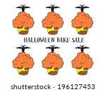 halloween cupcake   halloween... | Shutterstock . vector #196127453