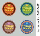 set of vintage retro badge | Shutterstock .eps vector #196135487