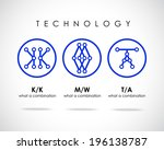 technology combination of... | Shutterstock .eps vector #196138787
