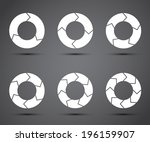 circle arrows set | Shutterstock .eps vector #196159907