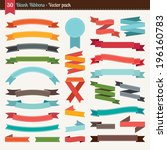 blank ribbons collection | Shutterstock .eps vector #196160783