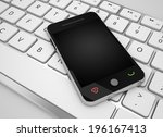 phone and keyboard concept | Shutterstock . vector #196167413