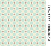 seamless pattern with polka dot | Shutterstock . vector #196174157