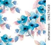 watercolor seamless pattern...   Shutterstock .eps vector #196174163