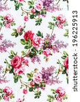 red rose fabric background ... | Shutterstock . vector #196225913