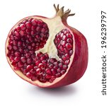 Half Of Pomegranate Isolated O...