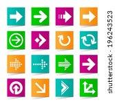 set of universal arrow icons on ...