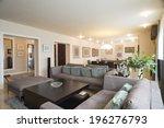 interior of a spacious living... | Shutterstock . vector #196276793