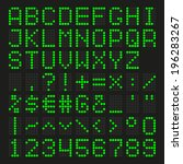 font dot led display green | Shutterstock .eps vector #196283267