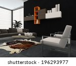 modern lounge with contemporary ... | Shutterstock . vector #196293977