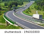the highway between woods  in... | Shutterstock . vector #196310303