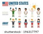 united states soccer team... | Shutterstock .eps vector #196317797