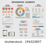 business infographic elements ... | Shutterstock .eps vector #196323857