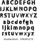 vector alphabet. letters of the ... | Shutterstock .eps vector #196341173