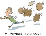 a cluster of stinky  cartoon... | Shutterstock .eps vector #196372973