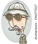 an old fashioned cartoon... | Shutterstock .eps vector #196377017