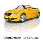 orange convertible car | Shutterstock . vector #196378283