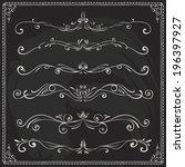 set of vintage vector dividers... | Shutterstock .eps vector #196397927