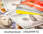 one hundred dollars and credit... | Shutterstock . vector #196399973