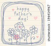 vector hand drawn father's day... | Shutterstock .eps vector #196414967