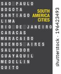 name of south american cities... | Shutterstock .eps vector #196423493