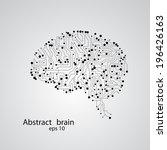 circuit board brain eps 10 ... | Shutterstock .eps vector #196426163