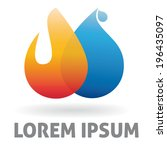 blue,business,corporate,design,drop,element,fire,flame,heat,icon,illustration,logo,logotype,orange,plumbing