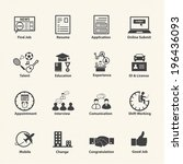business employment icons set | Shutterstock .eps vector #196436093