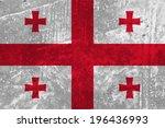 georgia  georgian flag on... | Shutterstock .eps vector #196436993