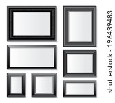 7 Black Frames Over White...