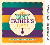 father's day sticker design.... | Shutterstock .eps vector #196439627